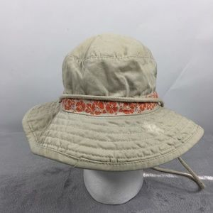 Dorfman Pacific Tan Orange Bucket Hat with String